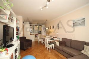 Pronájem částečně zařízeného bytu 3+kk Praha 5 - Stodůlky, Svitákova 2775 - obývací pokoj