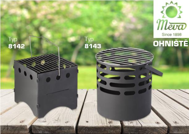 přenosná ohniště vyrobena z ocelového plechu opatřeného práškovou barvou